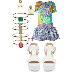 A fashion look from March 2015 featuring Stella Jean dresses, Forever New sandals and Roman Luxe earrings. Browse and shop related looks.