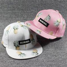 2017 Korean Women Hip Hop Baseball Cap Fruit pineapple Summer Men's Sun Hat Teen Lady's snapback Caps suit for teens adults
