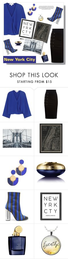 """I Found New York Laying In Your Arms"" by hmytran ❤ liked on Polyvore featuring Diane Von Furstenberg, Vintage Print Gallery, Tory Burch, Guerlain, Marco de Vincenzo, Americanflat, Aedes De Venustas, H&M, yellow and NYC"