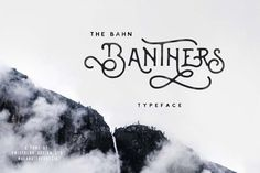 Banthers is new, handmade, modern, vintage, mono-line display typeface.