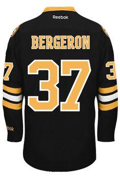 Boston Bruins Patrice BERGERON #37 *A* Official Third Reebok Premier Replica NHL Hockey Jersey (HAND SEWN CUSTOMIZATION)