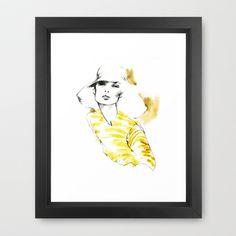 Fashion Illustration. At Last Framed Art Print by Myrtle Quillamor, Fashion Illustrator - $42.00