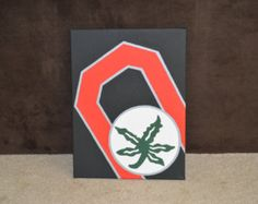 Ohio State Buckeyes hand painted Block O canvas This is perfect for OSU fans. Great gift!