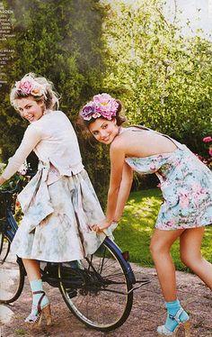 bike, flowers, dress, spring...yes!