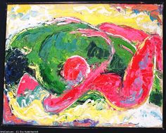 Artwork >> Eva Kudukhashvili >> love.55,5x75.oil on cardboard.2004.