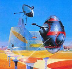 retroscifiart:  Peter Jones - Rings Around the Sun (1978) from his retrospective art book Solar Wind (1980)