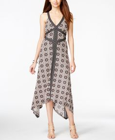 Inc International Concepts Printed Handkerchief Dress, Only at Macy's