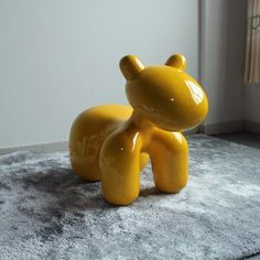 创意经典小狗儿童椅 公园椅 玻璃钢材质小马椅 亲子玩具椅 装饰椅