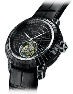 Jacob Co.'s Caviar Tourbillon Collection Timepiece invisibly set with Black Baguette Diamonds Gentleman Watch, Cool Watches, Trendy Watches, Popular Watches, Men's Watches, Fine Men, Luxury Watches For Men, Beautiful Watches, Caviar