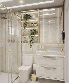 Toilet And Bathroom Design, Toilet Room Decor, Bathroom Design Luxury, Home Interior Design, Small Bathroom, Bad Inspiration, Bathroom Inspiration, Boutique Interior, Luxury Decor