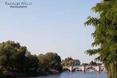 Richmond Bridge, taken from the gardens of The Bingham Hotel