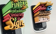 Creative 3D Typography Designs from Huawei Advertisement by Arnold Furance. Follow us www.pinterest.com/webneel