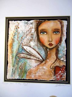 Print of original mixed media collagetake care of by PBsArtStudio