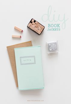 Love this little book jacket idea from the folks at Fellow Fellow. With a few stamps and the sewing maching you can make a pretty cute book jacket or two or three.