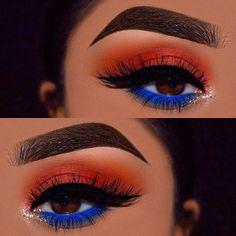 Gorgeous Makeup: Tips and Tricks With Eye Makeup and Eyeshadow – Makeup Design Ideas Makeup Eye Looks, Blue Eye Makeup, Cute Makeup, Gorgeous Makeup, Skin Makeup, Blue Eyeshadow Makeup, Easy Makeup, Yellow Eyeshadow, Eyeshadow Palette