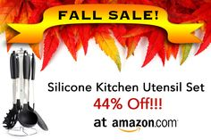High quality silicone and stainless steel kitchen utensil set with GREAT reviews on sale at Amazon.com!