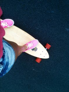 Vans and a longboard. Best combonation since 1987. Love the vans!!!