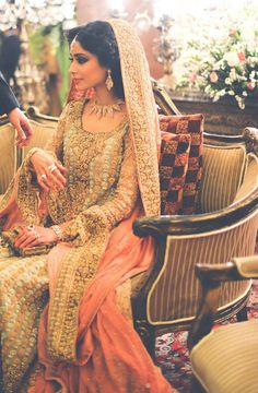 Image by:Muzi Sufi Photography bridal princess in peach and gold.