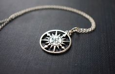 Necklace, Silver Necklace, Compass Rose Pendant, Compass Pendant, Sterling Silver Pendant, Silver Jewelry, Silver Rolo Chain, No. NS120 by storygirlcreations on Etsy https://www.etsy.com/listing/208195560/necklace-silver-necklace-compass-rose