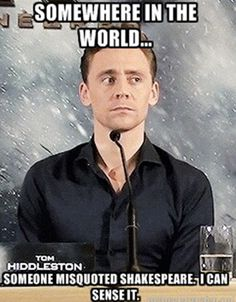 Tom Hiddleston is a god among men, a sexy beacon of hope in a world full of regular dudes. Hiddles has such a devoted fan following for one reason: he is sexy as hell. Well, he's also an incredibly talented actor and a kind, giving person... but he's