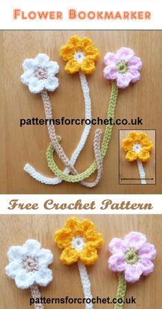 Pretty flowered bookmark | free crochet pattern | quick to make | #crochet