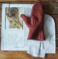 Petras textila resa: Vikingatida, isländska, sydda vantar. Viking age, icelandic, sewn mittens.