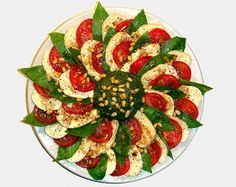 Lovely salad with Pesto sauce