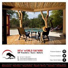 New World Safaris ------------------ VIP Transfers   Tours   Safaris ------ Follow us on Facebook facebook.com/newworldsafaris Lodges, Vip, Traveling By Yourself, Safari, Pergola, How To Memorize Things, Tours, Outdoor Structures, Facebook