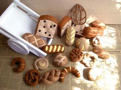 Felt breads. Maybe I could start with breads...that doesn't look too threatening...