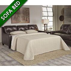 O'Kean Queen Sofa Sleeper by Ashley in Mahogany   Nebraska Furniture Mart