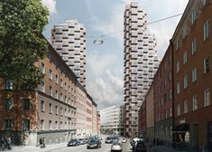 New Images Released of OMA's Norra Tornen Towers in Stockholm,© OMA