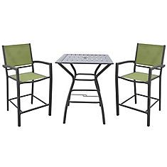 White Rock High Dining Chair in Green (2-Pack)