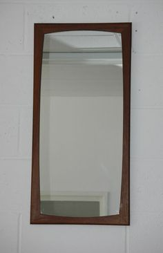 Vintage retro teak wood frame long wall mirror G Plan style Danish Mirror Wall Collage, Wall Mirror With Shelf, Tall Wall Mirrors, Oversized Wall Mirrors, Mirror Gallery Wall, Black Wall Mirror, Lighted Wall Mirror, Rustic Wall Mirrors, Contemporary Wall Mirrors