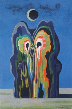 "1910-again: ""Ladislav Guderna, ""Abstract Form in a Moonlit Landscape,"" 1969. """