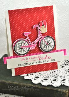 Dawn McVey: Raspberry Suite.  PTI bicycle die/stamp set