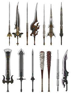 Cloud's Weapons Concept Art - Final Fantasy VII Remake Art Gallery