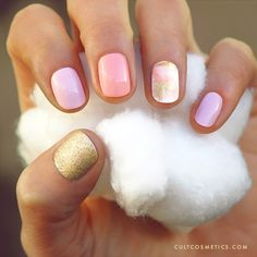 Love these nails & the colors!