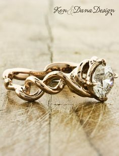 Engagement ring in Rose Gold called Mandy by Ken & Dana Design