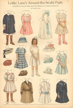 Lettie Lane Paper Doll by Sheila Young Vintage 1911 Antique Art Print | eBay
