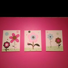 Paintings I did for Gracie's room