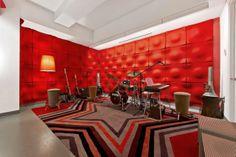 sound proof walls for a music room - Lynzie Bockholt - Home Studio Musik, Music Studio Room, Music Rooms, Sound Studio, Studio Soundproofing, Sound Room, Band Rooms, Drum Room, Audio Room