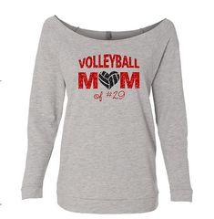Volleyball Mom Shirt. Volleyball Mom. Volleyball. Custom Volleyball Shirt. Off Shoulder Shirt.Volleyball Mom Sweatshirt. School spirit shirt