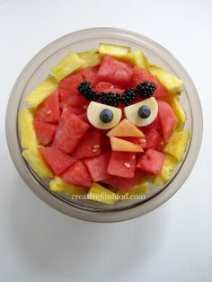 Angry Birds Fruit Bowl {Creative Food}