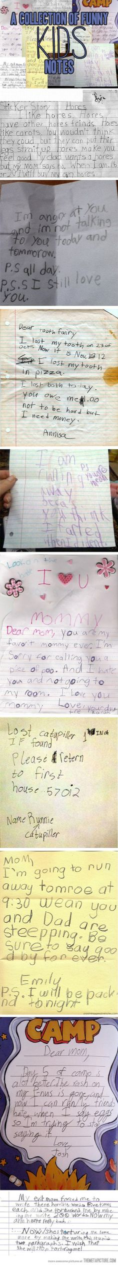 A Collection of Funny Kids Notes | Mommy Has A Potty MouthMommy Has A Potty Mouth