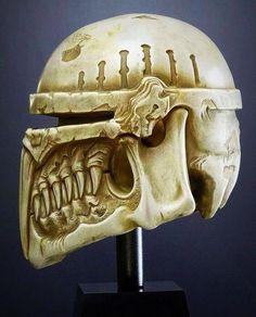 mandalorian skull mini sculpture star wars art. Black Bedroom Furniture Sets. Home Design Ideas