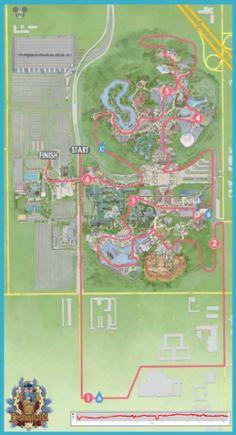 2014 Disneyland 10K Course Map | Disneyland Half Marathon | Running at Disney | #runDisney #DisneylandHalf #DLHalf #Disneyland10K