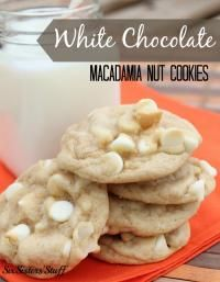 Six Sisters White Chocolate Macadamia Nut Cookies Recipe are super moist and loaded with white chips and macadamia nuts!!