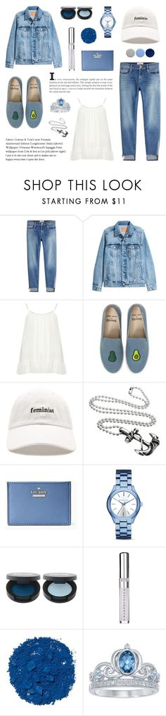 """Denim Combination: Wash Jacket"" by saviraauliap ❤ liked on Polyvore featuring Frame, Zizzi, Soludos, Forever 21, Kate Spade, Michael Kors, Chantecaille, Illamasqua, Disney and Burberry"