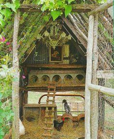 A very rustic hen house! #HenHouse....