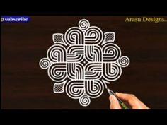 Dot Rangoli, Rangoli Borders, Rangoli Border Designs, Rangoli Designs Images, Rangoli With Dots, Traditional Rangoli, Padi Kolam, Indian Art Paintings, Floor Art